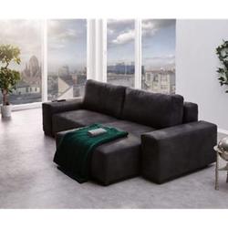 Couch Lanzo L Anthrazit 255x150 cm Vintage Look Ecksofa