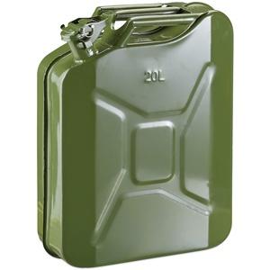 Metallkanister Kraftstoffkanister Metall Benzinkanister Grün 20 Liter