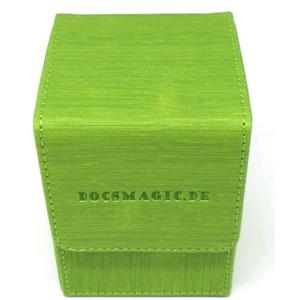 docsmagic.de Premium Magnetic Flip Box (80) Light Green + Deck Divider - MTG PKM YGO - Kartenbox Hellgrün