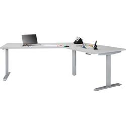 Maja Möbel Schreibtisch eDJUST Schreibtisch 5510, 120° Winkelkombination, elektrisch höhenverstellbar, 2-Motoren-Gestell, Memoryfunktion grau 248 cm x 72 cm - 120 cm x 157,8 cm