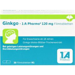 GINKGO-1A Pharma 120 mg Filmtabletten 30 St.