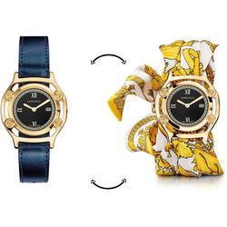 Versace Schweizer Uhr Medusa Frame, VEVF00720, (Set, 2-tlg., Uhr mit Lederband und Seidentuch)