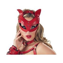 """Kopfmaske """"Catmask"""", in Lederoptik"""