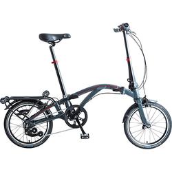 Dahon Faltrad CURLi4, 4 Gang Sturmey Archer Schaltwerk, Nabenschaltung grau Falträder Klappräder Fahrräder Zubehör Fahrrad