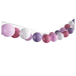 Vicco LED-Lichterkette Lichterkette Cotton Balls Girlande weiß, pink, rosa und lila 310 cm
