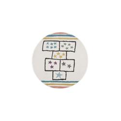 Kinderteppich Hüpfkästchen - Kinder Design, payé, Rund, Höhe 11 mm Rund - 160 cm x 160 cm x 11 mm