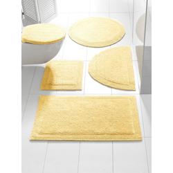 Badteppich , wendbar gelb ca. 50/80 cm, halbrund
