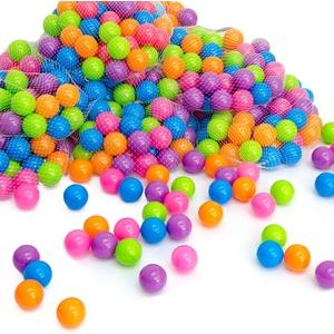 LittleTom 50 Bunte Bälle für Bällebad 5,5cm Babybälle Plastikbälle Baby Spielbälle Pastell