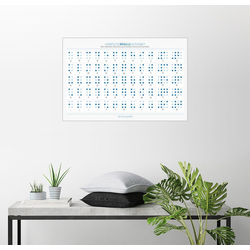 Posterlounge Wandbild, Braille-Alphabet 150 cm x 100 cm