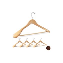 relaxdays Kleiderbügel Anzug Kleiderbügel 5er Set natur
