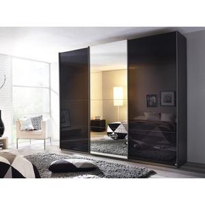 Kleiderschrank Kulmbach Glas grau Rauch OX6H (BHT 271x229x62 cm) Rauch Möbel