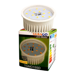 TRANGO LED Einbaustrahler, 10er Pack MO15SD-10 dimmbare GU10 LED Leuchtmittel 3000K warm weiß zum Austauschen GU10 & MR16 Halogen Leuchtmittel, für Einbauleuchten, Deckenstrahler, Einbaustrahler, Deckenleuchte, Spots