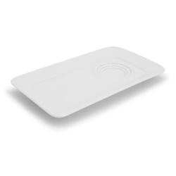 Walküre Porzellan Tortenplatte Tablett mit 3 Spiegeln, 26cm NYNY Weiß Walküre Por