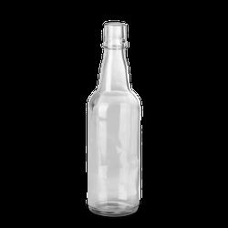 500 ml Bügelflasche - Klarglas - Lochmund