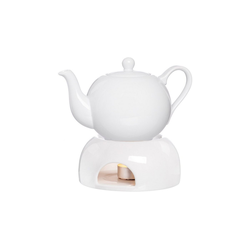 Ritzenhoff & Breker Teekanne BIANCO Tee-Set aus Teekanne 1 Liter und Stövchen