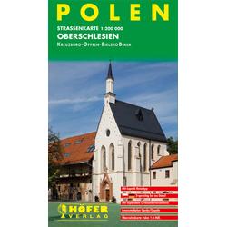 Höfer Polen PL007. Oberschlesien 1 : 200 000. Straßenkarte
