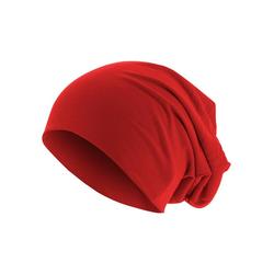 MSTRDS Beanie Jersey Mütze, Oversize rot
