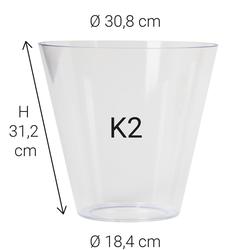 Echtglas K2