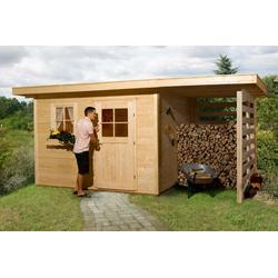 WEKA Gartenhaus 170 A Gr.4, 28 mm, Holzlagerplatz 150 cm, ohne Imprägnierung