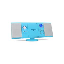 ONECONCEPT V-12 Stereoanlage USB SD CD MP3 AUX UKW Fernbedienung blau Kompaktanlage (UKW/MW-Radioreceiver, 0 W) blau