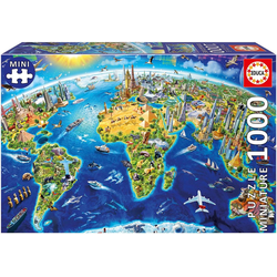 Educa - Wahrzeichen 1000 Teile Miniature Puzzle