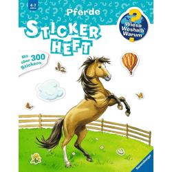 Pferde Stickerheft als Buch von