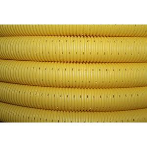Doubleyou Geovlies & Baustoffe DN 50 mm Drainagerohr 50m PP Drainageschlauch mit Drainagefilterschlauch