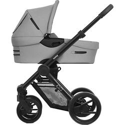 Kombi Kinderwagen Evo, Bold pebble grey, Gestell schwarz hellgrau