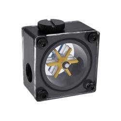 AlphaCool Wasserkühlung Eisflügel Durchflussanzeiger G1/4 eckig - Acetal
