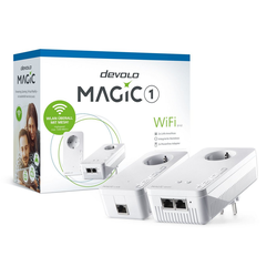 DEVOLO (1200Mbit, Powerline + WLAN, 3x LAN, Mesh) WLAN-Router, !Magic 1 WiFi ac Starter Kit