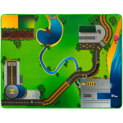 BRIO® Spielzeugeisenbahn-Erweiterung Eisenbahn-Spielmatte, für die Brio Eisenbahn; FSC® - schützt Wald - weltweit bunt