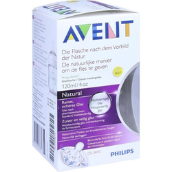 AVENT Flasche 120 ml Glas Naturnah 1 St