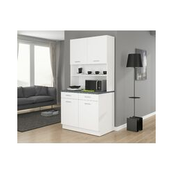 Küchen Preisbombe - Buffet Küche Mario 100 Küchenzeile Küchenblock Einbauküche Weiss