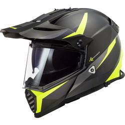 LS2 MX436 Pioneer Evo Router Motocross Helmet, black-yellow, Größe 2XS