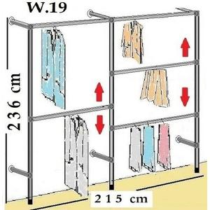 Kleiderständer Wandregal Textilständer Kleiderkammer Kleiderstange Garderobe W19