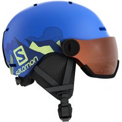 SALOMON GROM VISOR Helm 2021 pop blue mat - KS