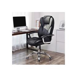 SONGMICS Chefsessel OBG57B Bürostuhl, Chefsessel, Drehstuhl, Computerstuhl, schwarz