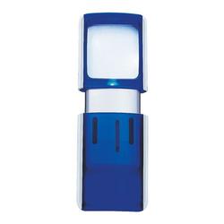 Rechtecklupe blau, Wedo, 4.7x11.8x1.4 cm