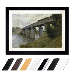 Bilderdepot24 Wandbild, Claude Monet - Die Eisenbahnbrücke von Argenteuil bunt 40 cm x 30 cm