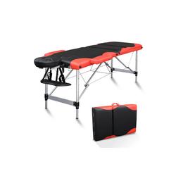 FCH Massageliege 3 Zonen Klappbar Massagetisch (Set), Mobile Therapieliege Tragbares Massagebett mit Höhenverstellbaren rot