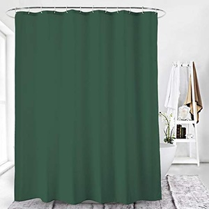 Duschvorhang Textil Badewannenvorhang 120/180 / 240 x 200 cm inkl Ringe (240x200cm, Ozeanblau)