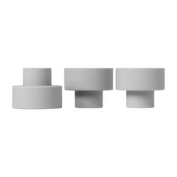 BLOMUS Kerzenhalter TRIO Set 3 Kerzen- und Teelichthalter mirage grey