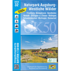 Augsburg 1: 50 000 (UK50-32)