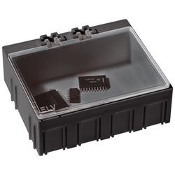 10er-Set ELV SMD-Sortierbox, Antistatik, 23 x 62 x 54 mm