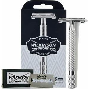 Wilkinson Sword Classic Vintage hochwertiger Rasierhobel inkl. 5 Doppelklingen