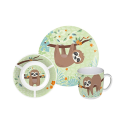p:os Kindergeschirr-Set Kindergeschirr Keramik Minnie Mouse, 3-tlg. grün