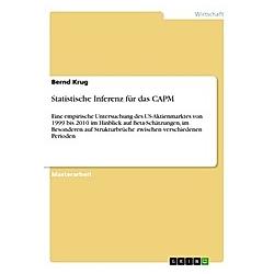 Statistische Inferenz für das CAPM. Bernd Krug  - Buch
