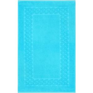 Lashuma Badezimmermatte Ocean - Blau, Schnelltrocknende Badmatte, Royal 50 x 80 cm