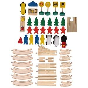 Train Toy Set Holz, ungiftige und langlebige Holzschiene und Zugpackung, 8 Glyph Track Set Tolles Geschenk für Mädchen und Jungen Kinder Kind Frühpädagogisch