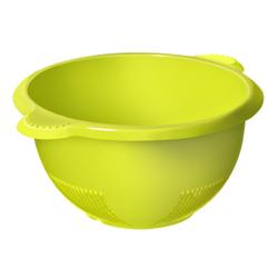 Rotho RONDO Sieb, Abtropfsieb aus hochwertigem Kunststoff , Farbe: lime grün